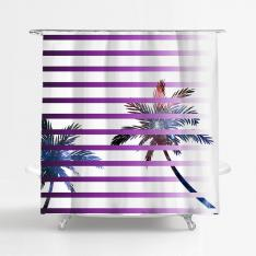 Galactic Palms-2 Shower Curtain