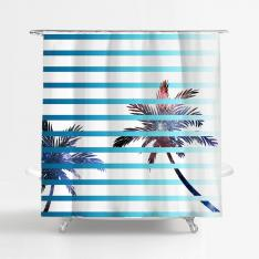 Galactic Palms Shower Curtain