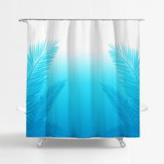 Blue-White Gradient Shower Curtain
