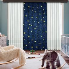 Dreamy Night Single Piece Decorative Curtain
