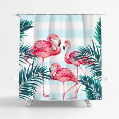 Tropical Flamingol Shower Curtain