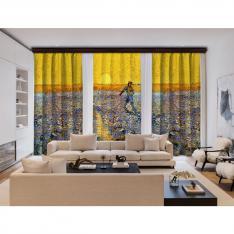 Vincent Van Gogh - The Sower 3 Panel BlackOut Curtain