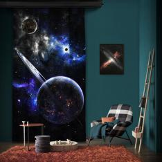 Antiviral Fantasy Planets Space One Piece Curtain