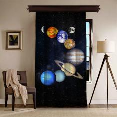Antiviral Solar System Space One Piece Curtain