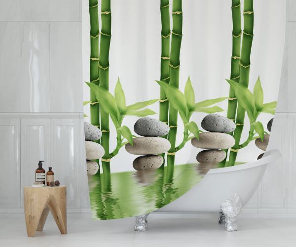 Cipcici Bamboo Shower Curtain