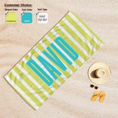 Cipcici Striped Customized Baech towel