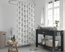 Cipcici Colorful Leaves Shower Curtain