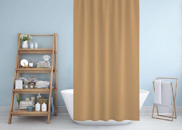 Cipcici Colors Beige Shower Curtain