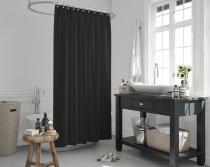 Cipcici Colors Black Shower Curtain