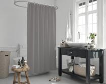 Cipcici Colors Grey Shower Curtain