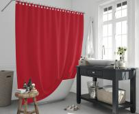 Cipcici Colors Red Shower Curtain