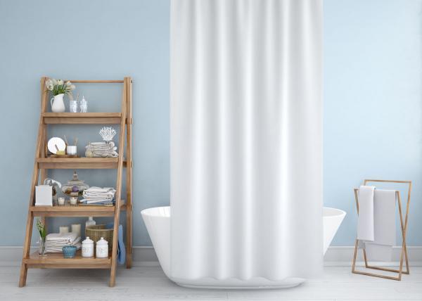 Cipcici Colors White Shower Curtain