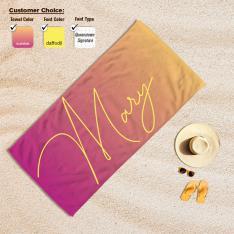 Cipcici Color Ombre Customized Beach Towel