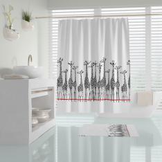 Cipcici Giraffe Shower Curtain