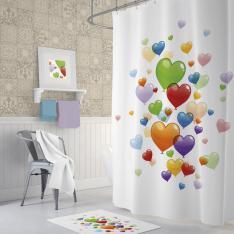 Cipcici Heart Balloons Shower Curtain