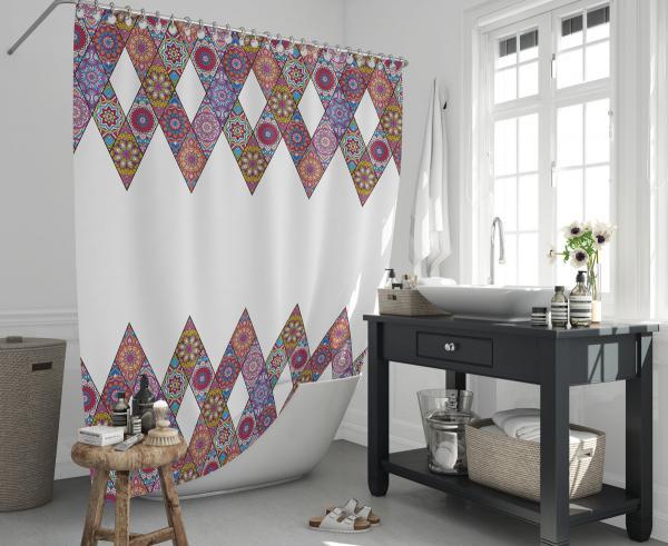 Cipcici Patchwork Shower Curtain