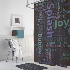 Cipcici Splash Shower Curtain