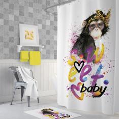 Cipcici Sweet Baby Shower Curtain