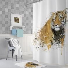 Cipcici Tiger Shower Curtain