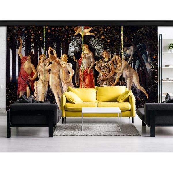 Sandro Botticelli - İlkbahar 4 Panel BlackOut SET
