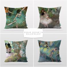 Edgar Degas's Balerins 4 Pieces Pillow Cover Set-2