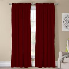 Frenk ''Single Panel'' Decorative Curtain-Burgundry