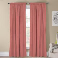 Frenk ''Single Panel'' Decorative Curtain-Rose Pink