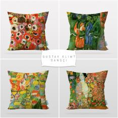 Gustav Klimt Dancer 4 Pieces Pillow Cover Set