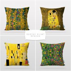 Gustav Klimt The Kiss 4 Pieces Pillow Cover Set