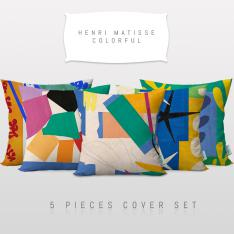 Henri Matisse Colorful 5 Pieces Pillow Cover Set
