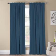 Kohinor ''Single Panel'' Blackout Curtain-Indigo Blue