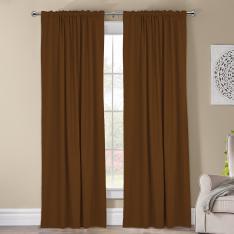 Kohinor ''Single Panel'' Blackout Curtain-Brown