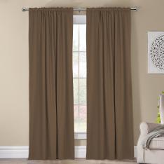 Kohinor ''Single Panel'' Blackout Curtain-Dark Beige