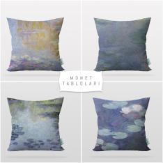 Monet Paintings 4 Pieces Pillow Cover Set