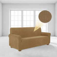 Stretch Elastic Lycra Sofa-Armchair Cover-Light Brown