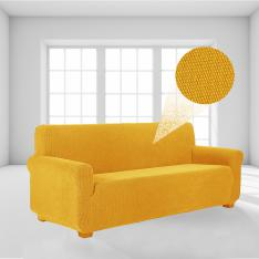 Stretch Elastic Lycra Sofa-Armchair Cover-Mustard Yellow