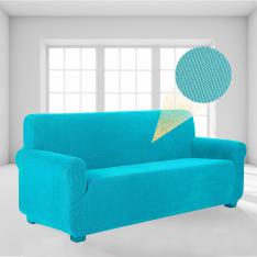 Stretch Elastic Lycra Sofa-Armchair Cover-Turquoise