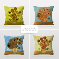 Vincent Van Gogh Self Sunflowers 4 Pieces Pillow Cover Set