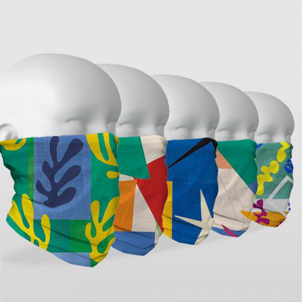 ''Matisse Serisi'' 5 Adet Çok Fonksiyonlu Maske & Bandana Seti