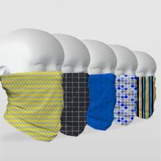 ''Sade Modeller'' 5 Adet Çok Fonksiyonlu Maske & Bandana Seti