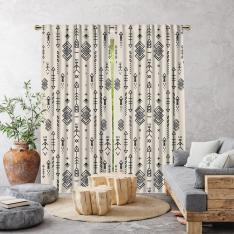 Aztek Model Single Panel Curtain-Cream