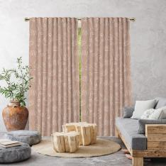 Boho Different Shapes Single Panel Curtain-Powder Pink