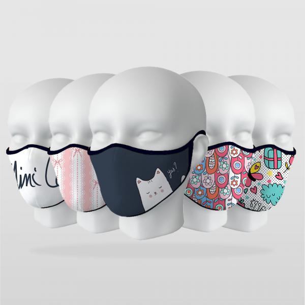 Çocuk Modelleri-2 5 Adet Maske Seti
