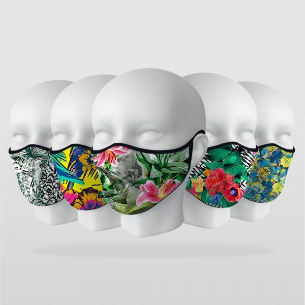 ''Floral Desenler'' 5 Adet Maske Seti