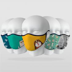 ''Cute Animals'' 5 Piece Mask Series