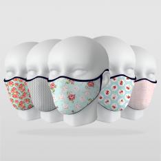 ''Pastel Renkler'' 5 Adet Maske Seti