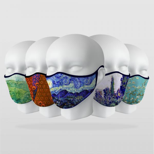 ''Sanatsal Tablolar'' 5 Adet Maske Seti