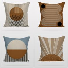 Bohemian Sun 4 Pieces Pillow Cover Set