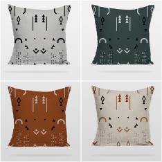 Boho Style Decorative Patterns 4 Pieces Pillow Cover Set