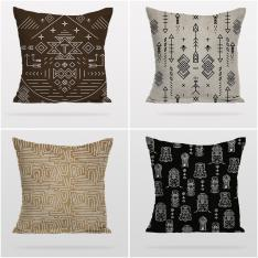 Ethnic Patterns 4 Pieces Pillow Cover Set